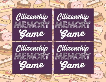 Citizenship Memory Review Game
