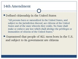 Citizenship, Naturalization & Aliens
