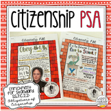 Citizenship PSA | Civic Duty Project for Civics & American Government