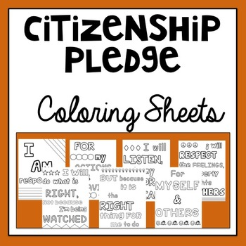 Citizenship Pledge Coloring Sheets
