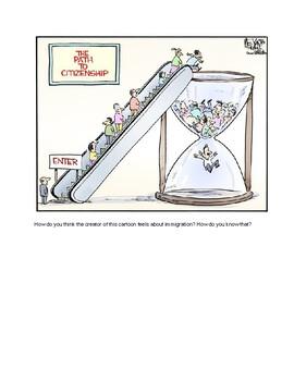 Citizenship Political Cartoon Analysis