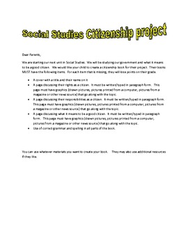 Citizenship Project/Booklet