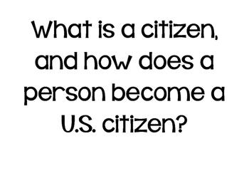 Citizenship & Public Participation UEQ & LEQs