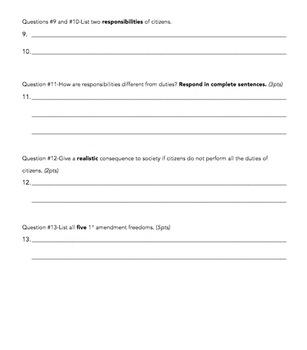 Citizenship Quiz