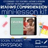 Citizenship Reading Comprehension Mini Lesson for Distance