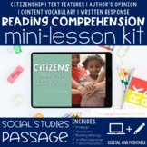 Citizenship Reading Comprehension Mini Lesson for Distance