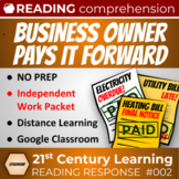 Citizenship Reading Response: Business Owner Pays it Forwa