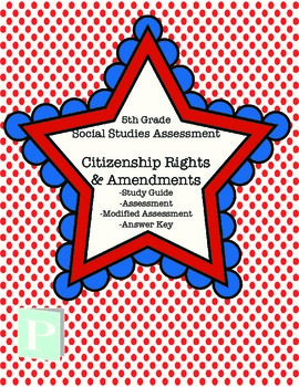 Citizenship Rights & Amendment Assessment with Study Guide