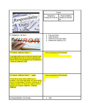 Tutorial - Show Your Citizenship - Study Guide & Answer Key