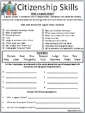 Citizenship Skills Worksheet