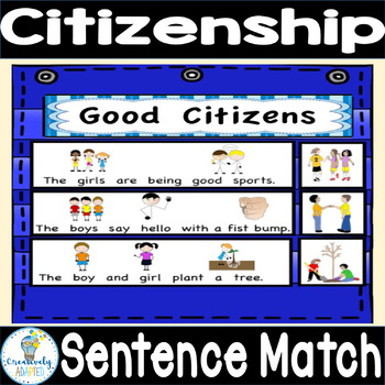 PICTURE-SENTENCE MATCH: Good Citizens (Autism/Special Education)