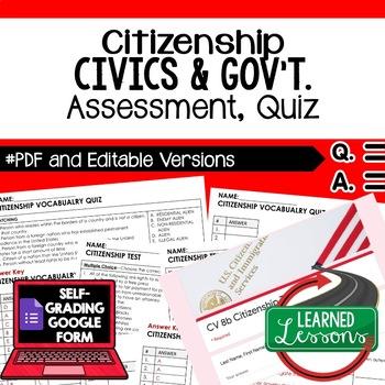 Citizenship Test, Citizenship Quiz, Civics Assessment