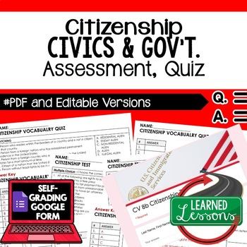 Citizenship Test, Citizenship Quiz, Civics Assessment