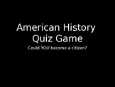 Citizenship Test Jeopardy Quiz Game