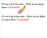 Citizenship Theme and Vocabulary Introduction