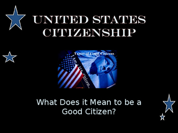 Citizenship - Unit Presentation - What Does It Mean to be