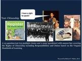 Citizenship Unit Test for Virginia Civics & Economics