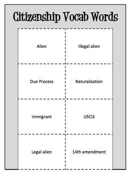 Citizenship Vocab