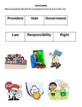 Citizenship Vocabulary Sort