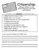 Citizenship Worksheet- 2nd Grade Social Studies