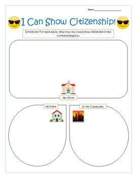 Citizenship Worksheet - K-3