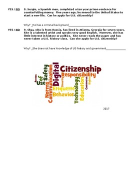 Citizenship Yes or No