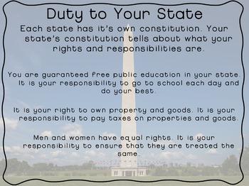 Constitution Day: Citizenship- Your Duties as a Responsible Citizen