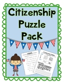 Citizenship and Civic Duties Puzzles- word search, cipher, cryptogram