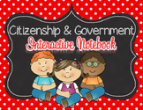 Citizenship and Government Interactive Notebook for 2nd grade NO Teacher Prep