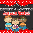 Citizenship and Government Interactive Notebook for 2nd gr