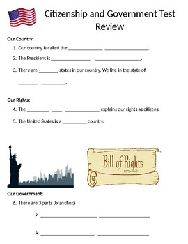 Citizenship and Government Template