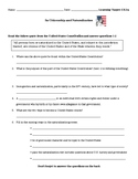 Citizenship and Naturalization Quiz (Virginia Civics SOL CE.3b)