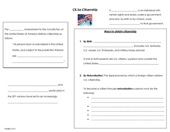 Citizenship and Naturalization note page (CE.3a)