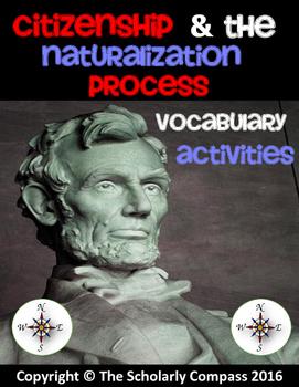 Citizenship and the Naturalization Process Vocabulary Activities