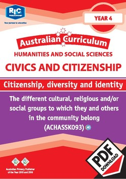 Citizenship, diversity and identity – Year 4