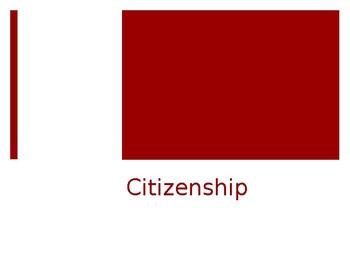 Citizenship lesson
