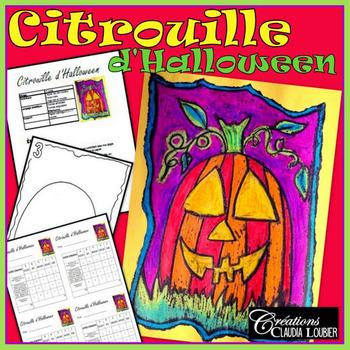 Halloween: Arts plastiques:  Citrouille, automne, plan de cours en français