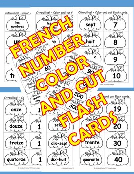 Citrouilles! French pumpkin song, posters, flash cards,&coordinating worksheets