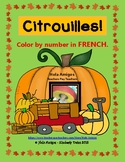 Citrouille! French pumpkin color by number pages (4 pages)