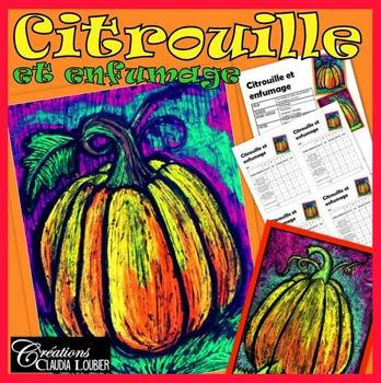 Citrouille et enfumage, arts plastiques, automne et Halloween