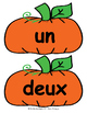 Citrouilles! FRENCH pumpkin themed number posters & color and cut flash cards