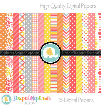 Citrus Candy Digital Papers