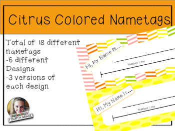 Citrus Colored Nametags