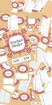 UPDATED Citrus Colors Teacher Binder Dividers, Calendar, Pages and Papers