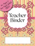 UPDATED Citrus Colors Teacher Binder Dividers, Calendar, P