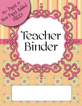 UPDATED Citrus Colors Teacher Binder Dividers, Calendar, P