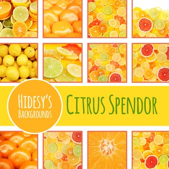Citrus Digital Papers / Backgrounds / Photos for Commercial Use