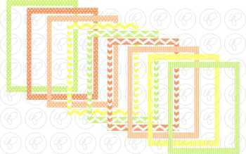 Citrus Frames and Labels Digital Borders Clipart by Poppydreamz