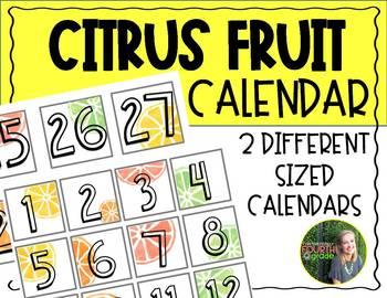 Citrus Fruit Calendar