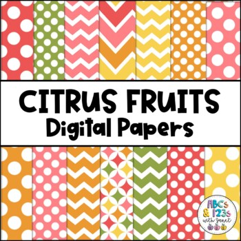 Citrus Fruits Digital Paper Pack